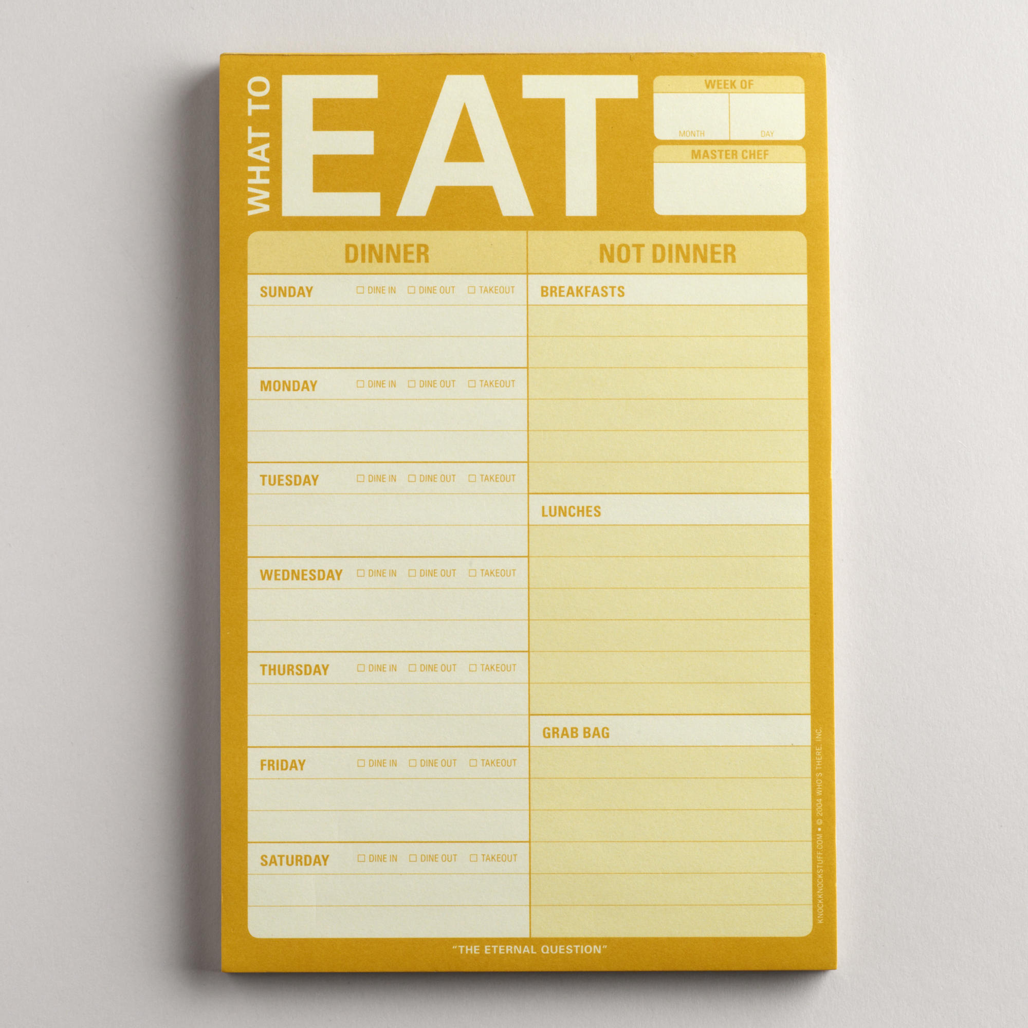 Die To-Eat-Liste ist gegessen.