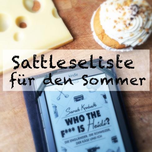Bücher zum Sattlesen im Sommer