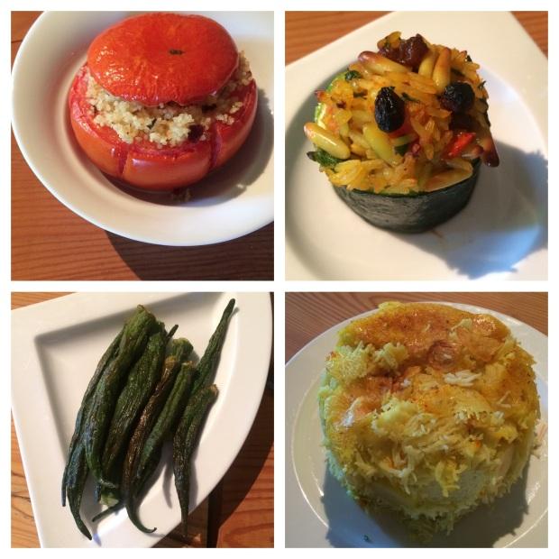 Gefüllte Tomaten & Zucchini, Okras und Knusperreis